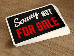 Not For Sale Window Cling Coupe Cartelcoupe Cartel