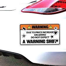 Amazon Com Iopada 11 7cm X 5 8cm Vinyl Car Decal Do Not Expect A Warning Shot Car Sticker Vinyl Bullet Decal For Windows Laptop Decal Home Kitchen