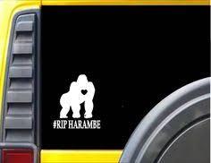 10 Harambe Ideas Harambe Custom Window Decals Stickers