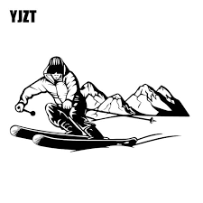Yjzt 10cm 18 9cm Brave Ski Adventure Sticker Decorative Car Vinyl Decal Black Silver C30 0437 Shop The Nation