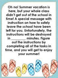 end of year escape room by creatively lazy teachers pay teachers