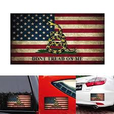 1pcs Car Styling Car Sticker Snake Don T Tread On Me Vintage American Flag Vinyl Funny Laptop Motorcycle Auto Decor Decals Car Stickers Aliexpress