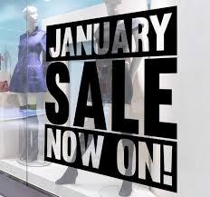January Sale Window Sticker Tenstickers