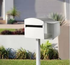 Modern Post Mounted Letterbox In Australia Sandleford