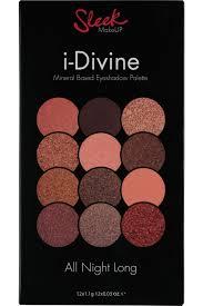 sleek makeup palette de fards à