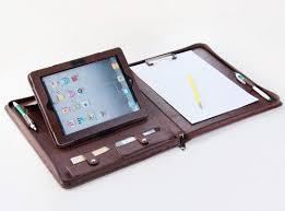 ipad leather portfolio case with stand