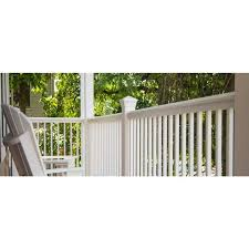 Rdi 3 3 4 In X 3 3 4 In X 3 Ft Blank White Metal Fence Post Assembly For 36 In High Railing 73018657 The Home Depot
