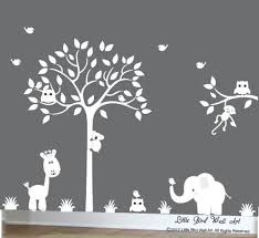 Wall Decal Tree White Tree Decal Silhouette Tree Decal Tree Etsy