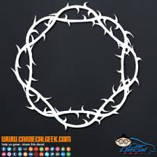 Crown Of Thorns Religious Vinyl Car Window Decal Sticker