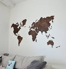 Amazon Com Enjoy The Wood Wooden Cork World Map Large Push Pin Map Of The World Travel Map Rustic Home Decor Of World Map Wall Art Wood World Map Map Wall Art