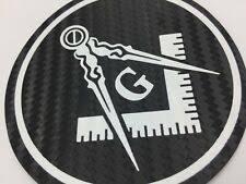 Masonic Decal 3 5 Logo Freemason Car Black Freemasonry Sticker 3d Feel Historical Memorabilia Fraternal Organizations Collectibles Historical Memorabilia