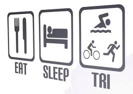 Eat Sleep Tri Vinyl Wall Art Triathlon Triathlete Etsy