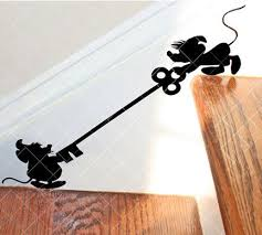 Mice Pals On Stairs Decal Etsy Disney Room Decor Disney Home Decor Stair Decals