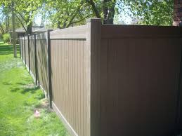 Chestnut Brown Vinyl Fence Special The American Fence Company