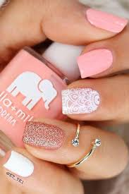 pink nail design ideas for a manicure