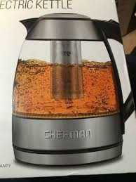 chefman electric cordless glass kettle