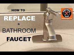 how to replace a bathroom faucet moen