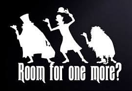 The Haunted Mansion Room For One More 6 White Vinyl Car Truck Decal Sticker Disney Kids Fun Cute Halloween Amazon Com