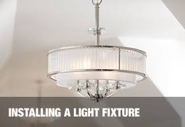 hanging light fixture installation at