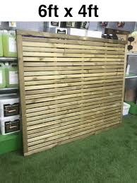 Slatted Fence Panel 1800mm X 1200mm 6ft X 4ft Contemporary Fence Panel