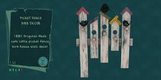 Second Life Marketplace Macca Picket Fence Birb Decor