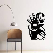 Marvel Movie Hero Wall Stickers Iron Man Design Vinyl Decals Decor Sticker For Boys Room Superhero Iron Man Wall Art Mural Aj651 Wall Stickers Aliexpress
