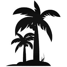 Hawaii Palm Tree 3 Vinyl Decal Sticker
