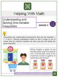 inequalities word problems worksheet