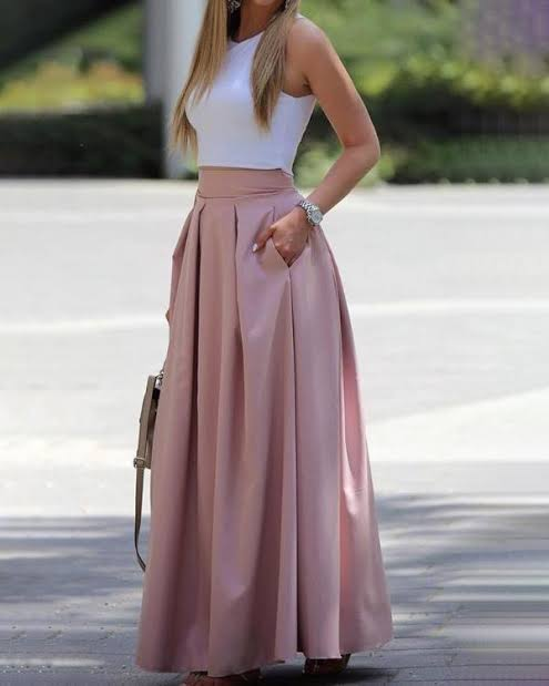 Image result for pleated skirt and top""