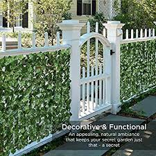 Amazon Com Best Choice Products Outdoor Garden 94x39 Inch Artificial Faux Ivy Hedge Leaf And Vine Privacy Fence Wall Screen Green Musical Instruments