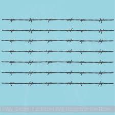 Barbed Wire Border 7 Pc Set Vinyl Decals Wall Stickers Art Western Decor