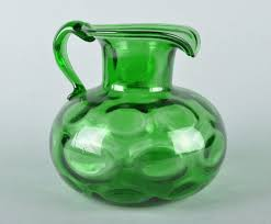 mouth blown art glass pitcher on popscreen