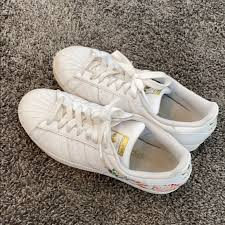 Adidas Shoes Floral Decal Sneakers Poshmark