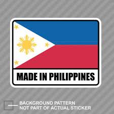 Car Truck Graphics Decals Auto Parts And Vehicles H Filipino Pinoy Vinyl Car Decal Sticker 7 5 W Cross No 3 Philippine Flag Rl Megeriancarpet Am