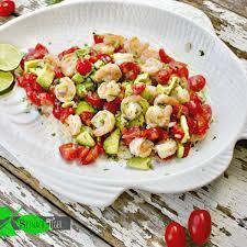 shrimp avocado salad recipe spinach tiger