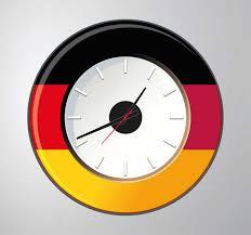 Germany Wall Clock Sticker Tenstickers