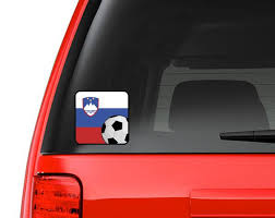Slovene Flag Soccer Fan Full Color Vinyl Decal For Car Macbook Or Other Laptop Many Sizes Available Adidas Athletes Cha Vinyl Decals Car Decals Vinyl