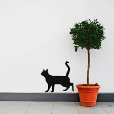 Curious Cat Silhouette Wall Decal By Inkwood Impressions On Zibbet