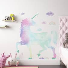 Custom Name Vinyl Decal With Galaxy Unicorn Head Wall Sticker Investpress Bg