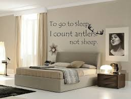 To Go To Sleep I Count Antlers Not Sheep Wall Decal Hunting Quote Vinyl Art Home For Sale Online