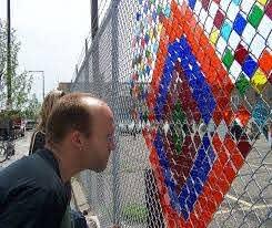 Artist Steve Bougie Makes A Delicate Community Offering Knight Foundation Fence Art Installation Art Garden Mural