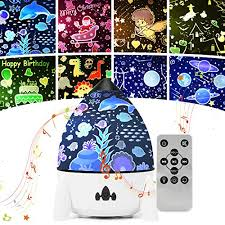 Star Night Light Projector For Kids Led Galaxy Projector Lamp For Bedroom 7 Lighting Modes Mood Lights For Baby Boys Girls Teens Adults Children Room With Remote Control And 8 Sets Of