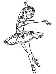 Kleurplaat Ballerina 12