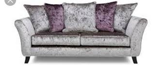 dfs crushed velvet sofa and chair for