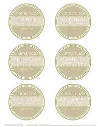diy homemade clean free label