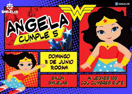 Mujer Maravilla Wonder Woman Para Fiestas Arreglos De Mesa