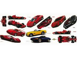 Classic Ferrari Cars Set Of Wall Decals