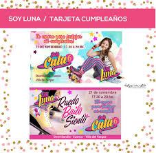 Soy Luna Tarjeta Invitacion Cumple Personalizada Digital 150