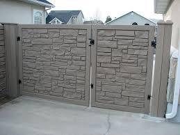 Simulated Stone Fence Granite Fence Simtek Ecostone Gate Fence Design Custom Gates Stone Fence