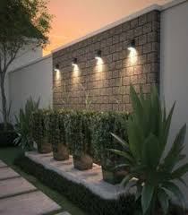 Gorgeous Front Fence Lighting Ideas To Apply Now 21 Outdoor Gardens Design Garden Lighting Design Backyard Landscaping Designs